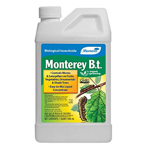 Monterey LG 6336 Bacillus Thuringiensis (B.t.) Worm & Caterpillar Killer Insecticide/Pesticide Treatment Concentrate, 32 oz, 32 oz