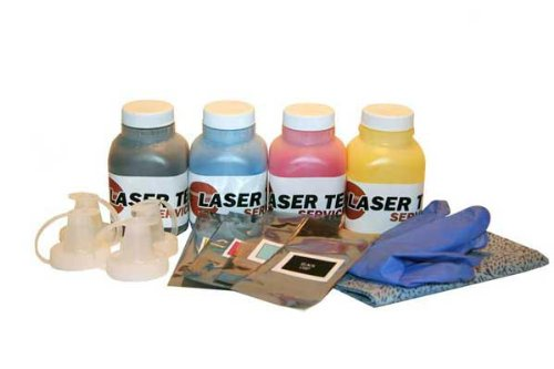 Laser Tek Services® 4 Pack Toner with reset chips for Samsung CLP-365W CLX-3305FW CLT-K406S Y406S M406S C406S