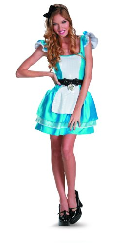 Disguise Walt Disneys Alice In Wonderland Glam Womens Adult Costume, Blue/White, Small/4-6