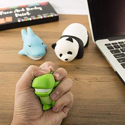 Xstars Gamtec Set of 3 Doll Squishy Squishies Slow Rising Soft Shark Panda Dinasour for Kids Friends Fidget Stress Relife Toy(3PCS): Toys & Games