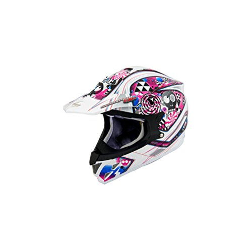 Scorpion VX-34 Demented Helmet - X-Large/White -