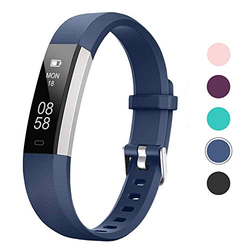 Lintelek Activity Tracker Slim Fitness Tracker Watch, Touch Screen Smart Bracelet with Anti-Lost Strap for Android Phone or iPhone