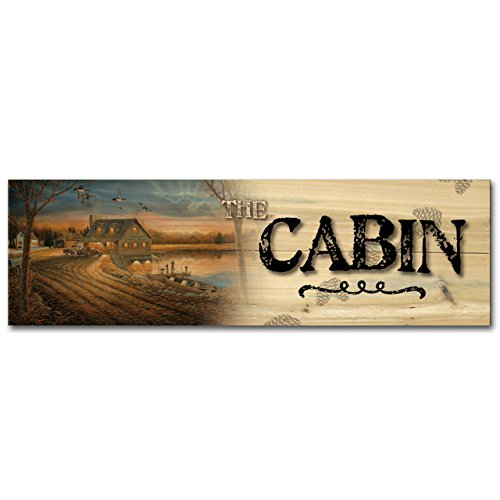 (WGI-GALLERY 248 The Cabin Angler's Inn Wooden Wall Art)