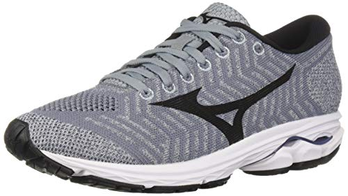 Mizuno Women's Wave Rider 22 Knit Running Shoe folkstone gray-black, 9 B US from Mizuno