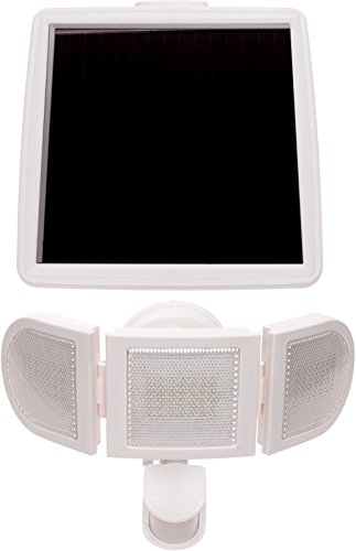 Cheap GreenLighting 1500 Lumen Triple Head PIR Solar Security Light (White)