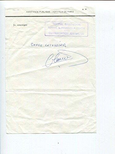 Serge Letessier Famous Dermatologist Dermatology Signed Autograph