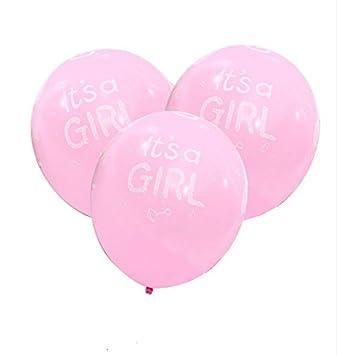 CHIPYHOME 20 Unids Globos Es una niña ¡¡¡ Baby Shower Recien Nacidos bautizos cumpleaños Fiesta de Nuevo Bebes bautizos Mesa de invitado Carrito de chuches ...