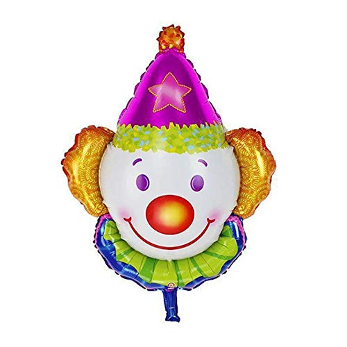 (Balloon Toy - Clown Foil Balloon Party Mylar Balloons Showing Children Birthday Theme Decorating Helium Toy - Animals Tables Stand Theme Tablecloth Bags Rainbow Decor Tank Supplies Boxing)