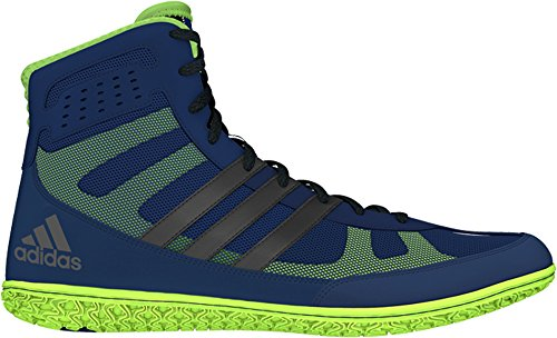 Adidas Mat Wizard Wrestling Shoes Navy/Silver/Lime Green ...