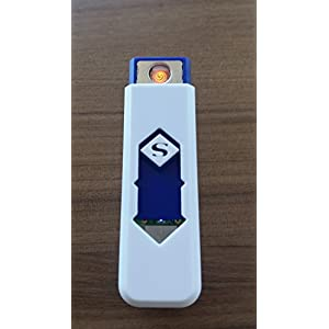 Electronic Flameless Windproof USB Style Rechargeable Battery Cigarette Cigar Lighter Random Color