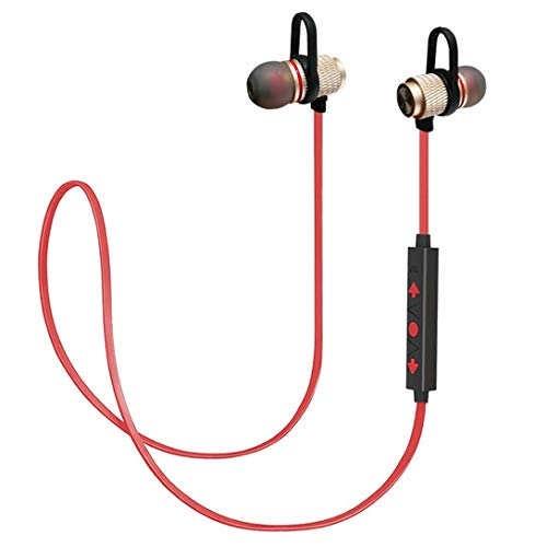 Bluetooth Headphones Sport, Stereo Magnetic Wireless Earbuds with HD Mic Bluetooth 4.1 and Secure Fit Noise Isolating Headsets IPX5 Sweatproof in Ear Earphones for Running Gym Workout iPhone Samsung