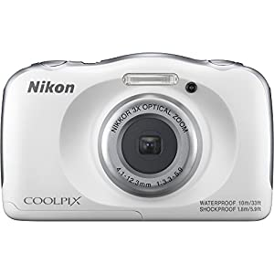 Nikon COOLPIX W100 13.2MP 1080P Digital Camera w/3x Zoom Lens, WiFi, SnapBridge, White (26515B) - (Certified Refurbished) from Nikon
