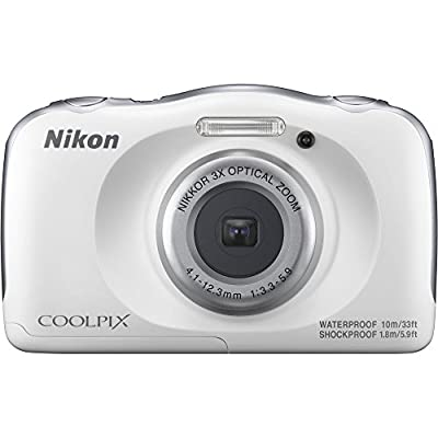Nikon COOLPIX W100 13.2MP 1080P Digital Camera w/3x Zoom Lens, WiFi, SnapBridge - (Certified Refurbished) by Nikon