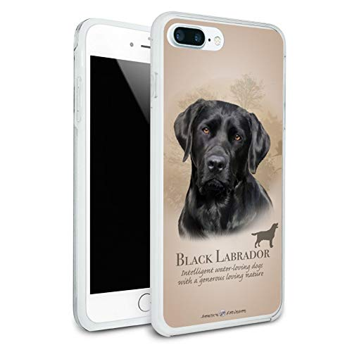 - Black Lab Labrador Dog Breed Protective Slim Fit Hybrid Rubber Bumper Case Fits Apple iPhone 8 Plus