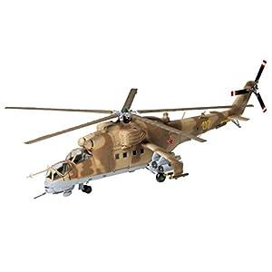 Tamiya 60705 60705-1:72 MIL Mi-24 Hind Helicopter, Model Building, Plastic Kit, Crafts, Hobbies, Gluing, Unpainted 5