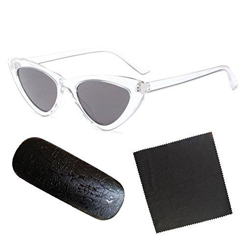 Cat Retro Meijunter Vintage Eye C9 Triangle Eyewear soleil Chic femmes lunettes Super de Mod Mode qw7R7pI