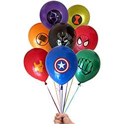 "Marvel Avengers Superhero Emblem 24 Count Party Balloon Pack - Large 12"" Latex Balloons"