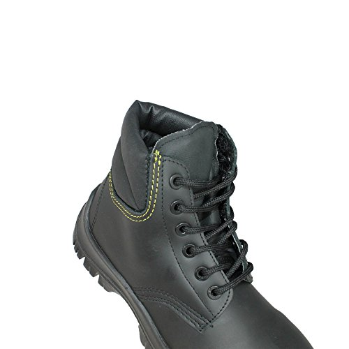 Aimont Workers S3 SRC Sicherheitsschuhe Arbeitsschuhe Trekkingschuhe hoch Schwarz Schwarz