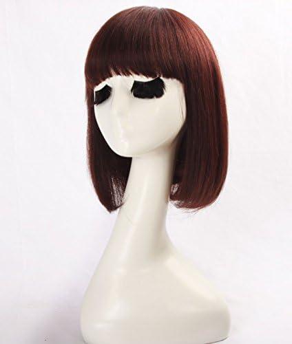 WINBOWIG Pelucas de cabello humano recto natural Pelucas cortas ...