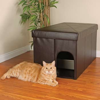 Petco Cat Litter Box Storage Ottoman, 20″ L X 36″ W X 19″ H, My Pet Supplies