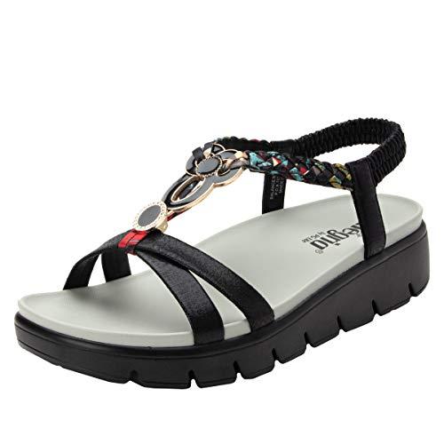(Alegria Roz Womens Sandal Black Multi 40 EU)