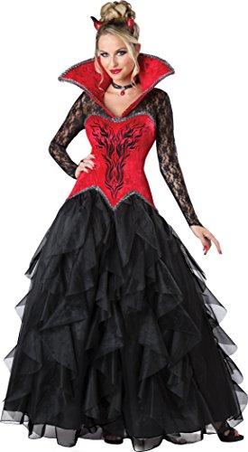 Fun World Women's Devilish Temptress Costume, Red/Black, (Women Devil Costume)