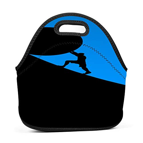 dreambest Stone Pusher Insulated Neoprene Lunch Bag for Unisex Lunch Bag Handbag for Work and ()