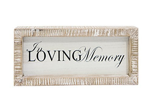 (In Loving Memory Black 10.5 x 4.5 Inch Wood Framed Hanging Wall Plaque Sign)