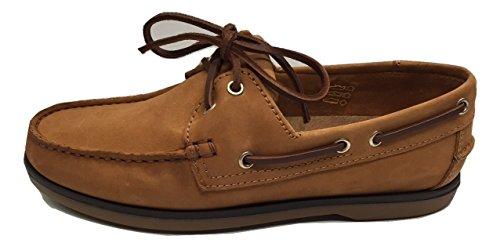 Damen Deck Schuhe Boot Schuhe 4Farben weichem Nubuk - Hautfarben