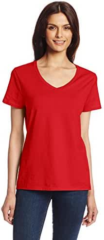 Hanes Women's Short Sleeve Nano-T V-Neck Tee