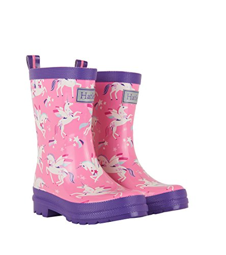 Hatley Printed Boot Girls Rain Accessory, Winged Unicorns, 13 US Child ()