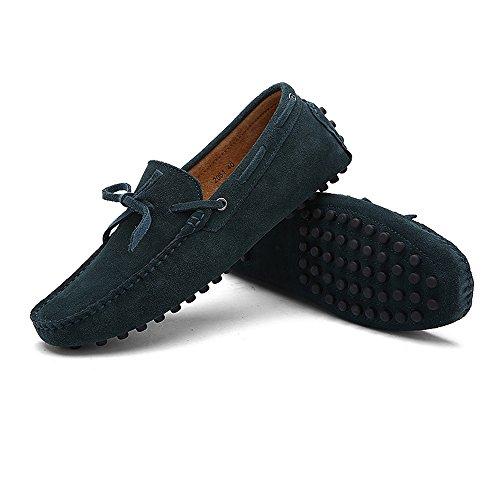 EU Uomo uomo Dimensione Color Scarpe da Mocassini Shufang Green leggeri Dark vera 38 shoes in Mocassini da guida 2018 pelle Da wIFURUqz