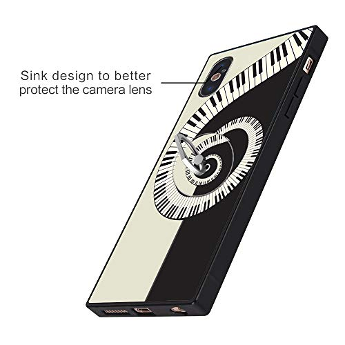 Music Spiral iPhone Xs Max Case with Ring Holder Stand Fashion Customize Soft Rubber Bumper Case with Ring Holder Stand with Ring Stand Holder for iPhone Xs Max
