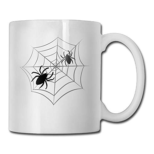 Halloween Spider Web Ceramic Coffee Mug - Novelty Stoneware White Tea Cup - 11 Oz Beauty Ceramic Mugs For Men And Women]()