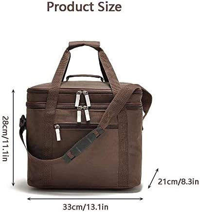 Lunch Bag for Work Insulated Bag, 18L Insulated Picnic Lunch Bag,Car Ice Pack Picnic Cooler Bag,Large Soft Cooler Bag for Outdoor/Camping/BBQ/Travel