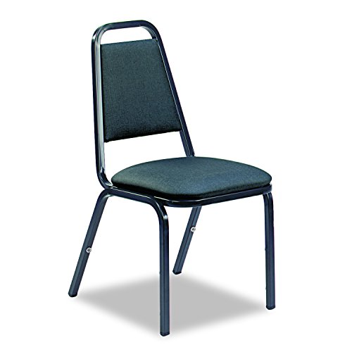 Virco 489265E38G4 8926 Series Vinyl Upholstered Stack Chair 18w x 22d x 34-1/2h Black 4/Carton, Black ()