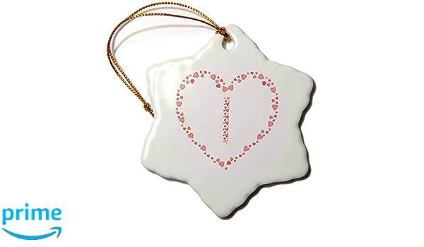 Pink Hearts Valentine Day Elegant Monogram Monogram Pink Hearts T-Shirts 3dRose Alexis Design Stylish Initial B
