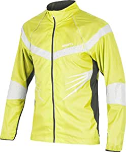 Craft Laufbekleidung Performance Run Brilliant Jacket - Chaqueta de running para hombre, color amarillo, talla XL