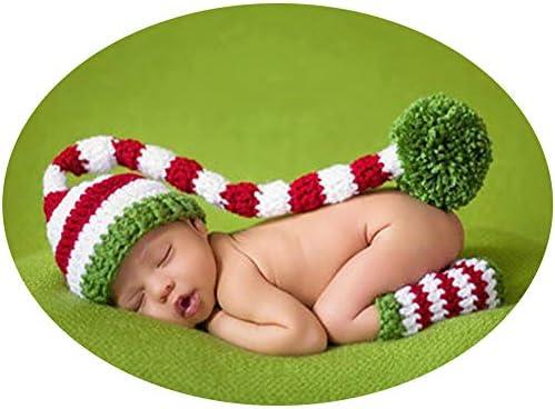Recién nacido Baby fotografía Props Infant Niño Niña fotográfico tiro Disfraces Ropa Ropa NAVIDAD sombrero Botas