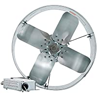 iLIVING ILG8G14-16T Newest Automatic Gable Mount Attic Ventilator Fan with Adjustable Thermostat, 3.15 Amp
