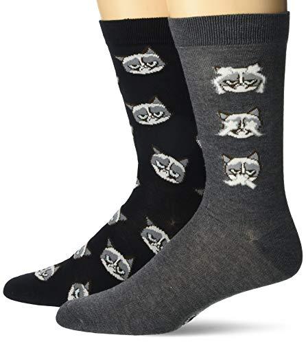 Grumpy Cat Men's 2 Pack Crew Socks