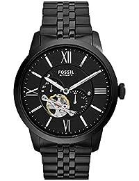 Men's ME3062 Townsman Mechanical Stainless Steel Watch with Black Link Bracelet