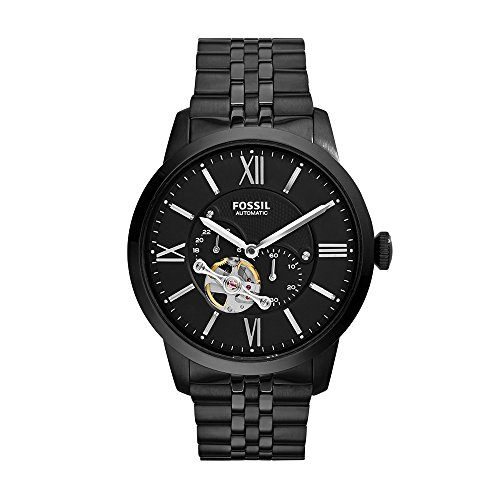 Fossil Men's ME3062 Townsman Mechanical Stainless Steel Watch with Black Link Bracelet ()