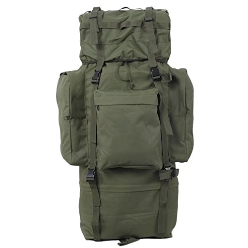 TaoRong 100L Military MOLLE Backpack Hiking Camping Backpack Tactical Combat Backpack Trekking Rucksack Waterproof Outdoor Sports Travelling for Men Women(Green)