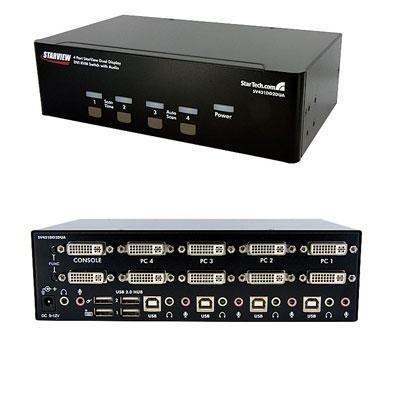 1 - 4-Port Dual DVI USB KVM Switch