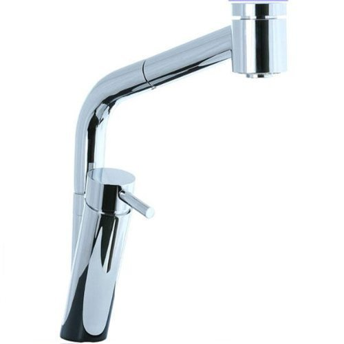 (Cifial 221.145.625 Techno Kitchen Faucet with Pull-Out Spray, Polished Chrome by)