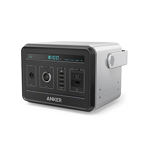 Anker-PowerHouse-Compact-400Wh-120-000mAh-Portable-Outlet-Generator-Alternative-Rechargeable-Power-Source-with-Silent-DCAC-Power-Inverter-12V-Car-AC-USB-Outputs