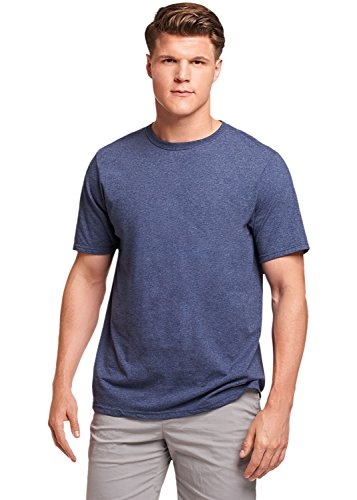 Russell Athletic Men's Essential Short Sleeve Tee, Vintage Heather Navy, (Basic Moisture)