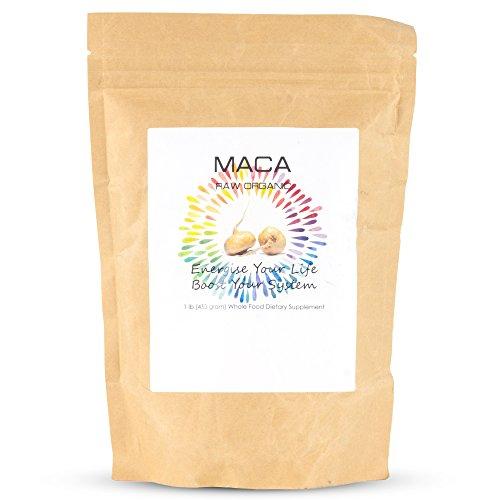 Organique Maca Poudre 1 lb (452 grammes) de qualité supérieure de M. Ros - Best Super naturel - naturel et supplément de Maca crue / - extrait de Maca Lepidium Meyenii