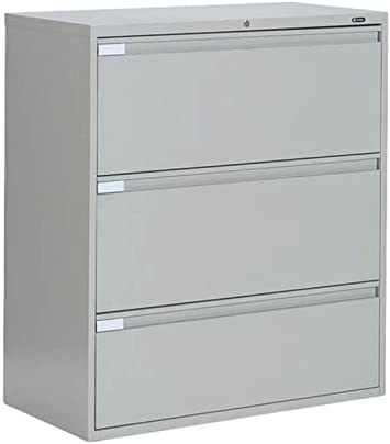 Amazon Com Three Drawer Lateral File 42 W Light Gray Dimensions 42 W X 18 D X 40 5 H Weight 174 Lbs Office Products